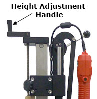 Bottle capper height adjustment