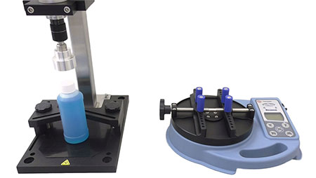 photo of capper and bottle cap torque tester